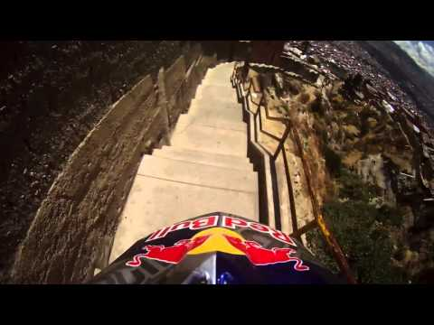 Extreme downhill  trail Descenso del Condor in La Paz Bolivia