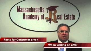 Facts for Consumer Information Sheet is a required document for Massachusetts Real Estate Agents