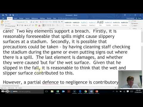 Legal Studies Practice Response Contributory Negligence and Calculating Damages