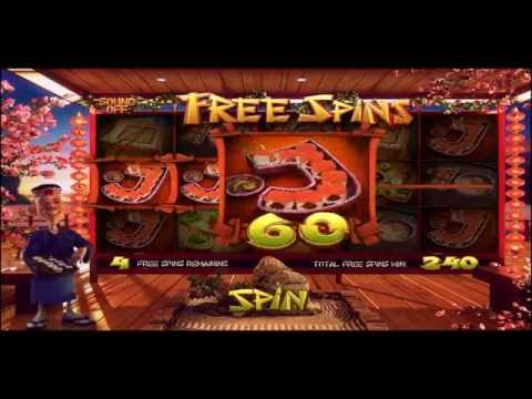 SUSHI BAR +BIG WIN! +BONUS! +FREE SPINS! online free slot SLOTSCOCKTAIL betsoft