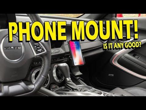 Interior Phone Mount Camaro 16-18 LS, LT, SS, ZL1 by ProClip (видео)
