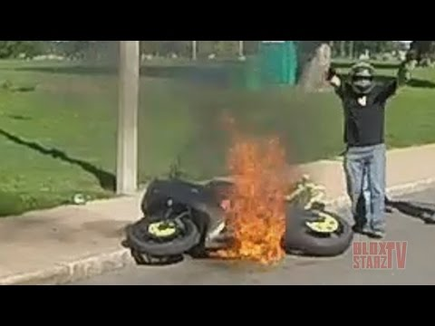 Download Stunt Bike Riding WHEELIES Catches On FIRE Motorcycle Stunts ROC 2016 Ride Of The Century FAIL VIDEO HD Mp4 3GP Video and MP3