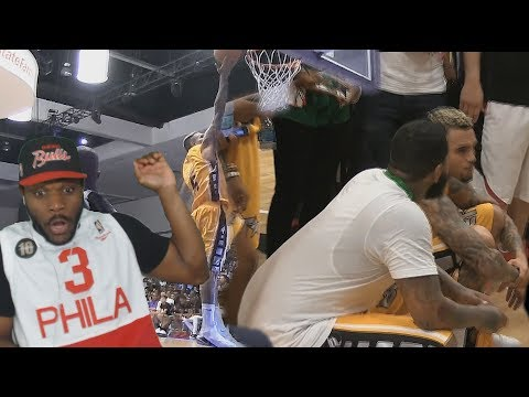 WHY HE DID HIM LIKE THAT!! CHRIS BROWN AND THE GAME CO-MVP'S AT CELEBRITY BASKETBALL GAME REACTION!! (видео)