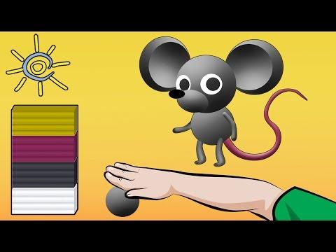 Як ліпити мишку з пластиліну | Уроки ліпки для дітей