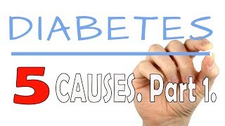 Diabetes - 5 Causes. Part 1.