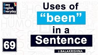 Video When to use BEEN in a sentence | How to make a sentence formation in English | Easy English Everyday MP3, 3GP, MP4, WEBM, AVI, FLV Juli 2018