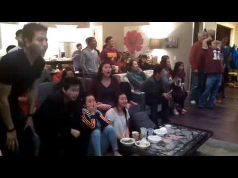 Seahawks fan reaction to Malcolm Butler game winning interception Super Bowl 49