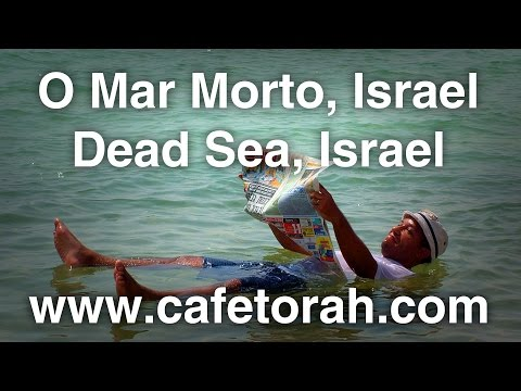 O Mar Morto, Israel.