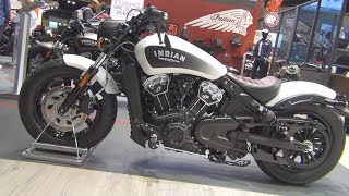 2. Indian Scout Bobber White Smoke (2019) Exterior and Interior