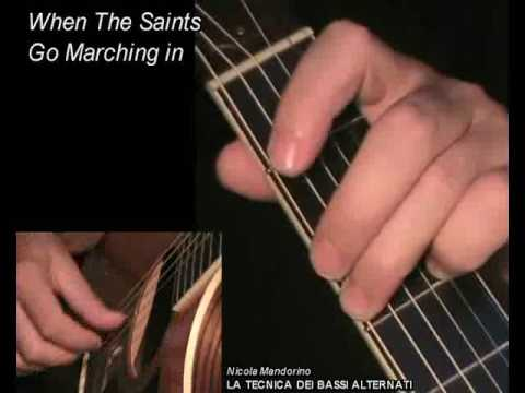 WHEN THE SAINTS GO MARCHING IN: Fingerpicking Guitar Lesson + TAB By GuitarNick