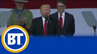 Many people are asking for an apology after President Trump spoke inappropriately at a boy scout jamboree speech in front of ...