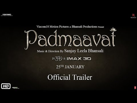 Padmavati Movie Official Trailer – Ranveer Singh,Deepika Padukone