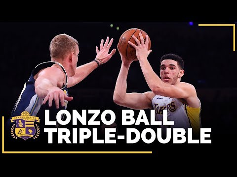 Video: Lonzo Ball Joins Magic Johnson As Only Lakers Rookies With Multiple Triple Doubles