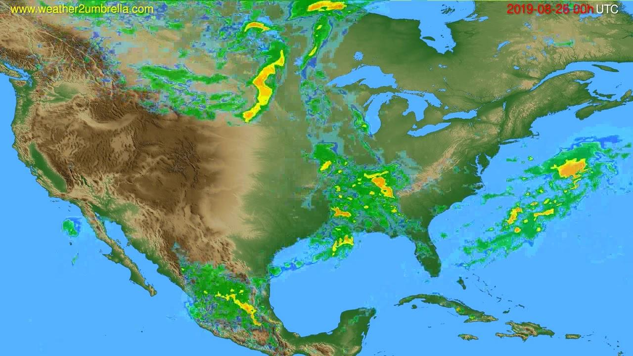 Radar forecast USA & Canada // modelrun: 12h UTC 2019-08-25