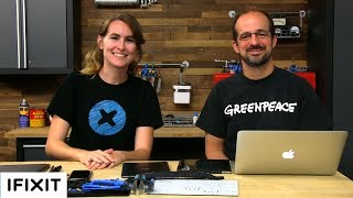 Gary Cook from Greenpeace International visited our headquarters to discuss how just how repairable gadgets are today. Sam, our Lead Teardown Engineer, walked him through some recent devices we've taken apart, and explained our process of giving a device a repairability score. Subscribe to our channel for all our latest teardown and repair videos!https://www.youtube.com/subscription_center?add_user=ifixityourselfFollow us on Twitter: https://twitter.com/ifixitCheck us out on Facebook: https://www.facebook.com/iFixit