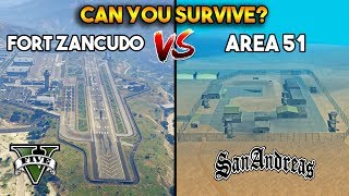 FORT ZANCUDO VS AREA 51 : CAN YOU SURVIVE? (GTA 5 VS GTA SAN ANDREAS)