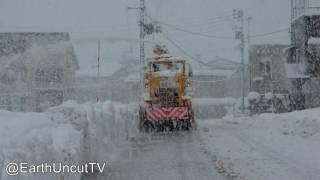 Thunder Snow & Immense Sea Effect Snowfall In Japan 大雪新潟県