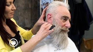 Video Old School Men's Haircut with Big Beard Trim   Cut & Grind MP3, 3GP, MP4, WEBM, AVI, FLV Januari 2019