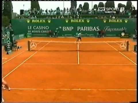 Rubén Ramírez ante Federer en Mntecarlo 2008