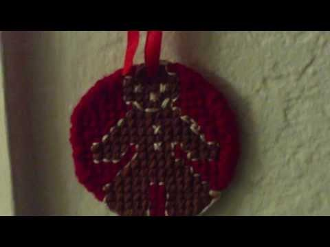 Making A Cross Stitched Gingerbread Man Ornament For Christmas