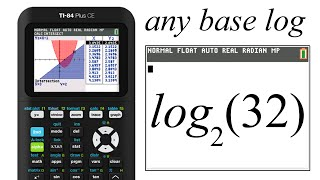 any base logarithm how-to tutorial for the new TI-84 CE.