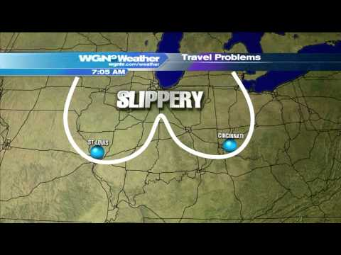 WGN Morning News Guy Showcases Dirty Weather Maps Video