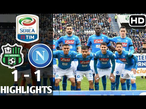 Sassuolo 1 - 1 Napoli - Highlights All Goal