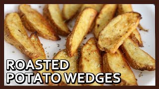 Roasted Garlic Potato Wedges | Crispy Potato Wedges | French Fries in Airfryer | Healthy Kadai