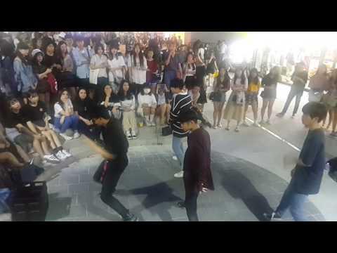 [4TEN 포텐] BTS I need u 커버안무 홍대댄스버스킹 20170622목 [Korean Hongdae Kpop Dance Busking]