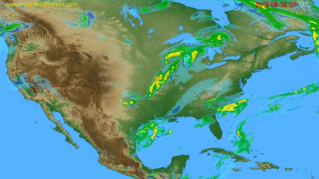 Radar forecast USA & Canada // modelrun: 00h UTC 2019-06-12