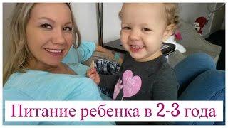 Питание ребенка в 2-3 года
