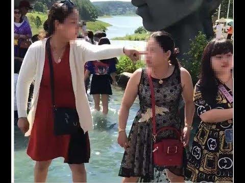 """Đà Lạt: Cãi nhau về chỗ chụp ảnh tại hồ Vô Cực, 2 người phụ nữ lao vào """"choảng"""" túi bụi"""