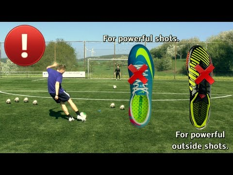 soccer - How to Kick like Steven Gerrard & Frank Lampard (Driven Shot) Shooting with Instep / Laces | Vollspann Schuss mit viel Kraft  Facebook: http://on.fb.me/JIG9...