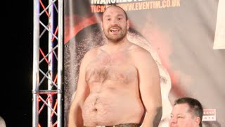 'LOOK AT ME, YOU LOST TO A FAT MAN' - TYSON FURY TAUNTS KLITSCHKO AS HE REVEALS HIS AMAZING SHAPE!