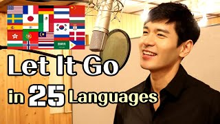 Video Let It Go (Frozen) Male Cover in 25 Languages | Multi-Language Version - Travys Kim download in MP3, 3GP, MP4, WEBM, AVI, FLV January 2017