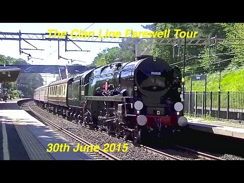 The Clan Line Farewell Tour passes Apsley on the WCML 30t...