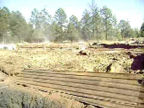 La producción de carbón en pozos de barro.