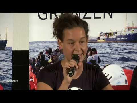 Pressekonferenz zur Festnahme von Carola Rackete (u.a ...