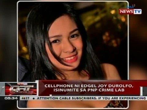 QRT: Cellphone ni Edgel Joy Durolfo, isinumite sa PNP crime lab (видео)