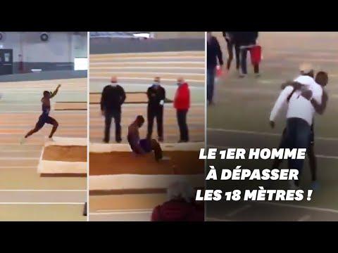 Hugues-Fabrice Zango bat le record du monde du triple saut en salle
