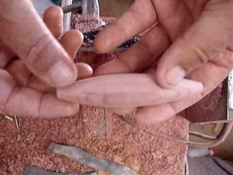 How to Make a Wooden Lure on a Lathe
