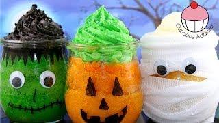Make Halloween Cupcake Jars with YoyoMax12&MyCupcakeAddiction - Frankenstein, Pumpkin&Mummy!