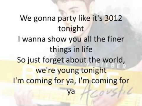 Justin Bieber - Beauty And A Beat (Acoustic) Lyrics