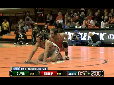 Jordan Oliver vs. Logan Stieber-133 Match - 2012 NWCA/Cliff Keen National Duals