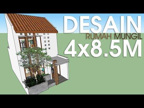 DESAIN RUMAH MINIMALIS MUNGIL 4x8m (Tiny House)