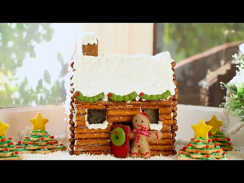 How to Make a Gingerbread House Log Cabin (No Kit Required) - Gemma's Bigger Bolder Baking 47