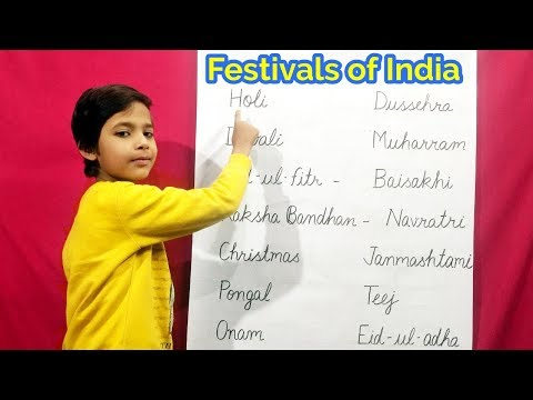 festivals of India for Kids | Festival Name | Festival | children learning | RS Gauri