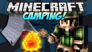 Minecraft | CAMPING! (Tents, Fires&Marshmallows!) | Mod Showcase [1.4.7]