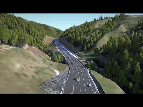 Transmission Gully motorway fly-through