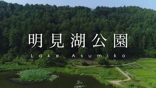 富士山と蓮池 富士吉田市 明見湖公園 / Lotus Flowers at Lake Asumiko in Yamanashi, Japan